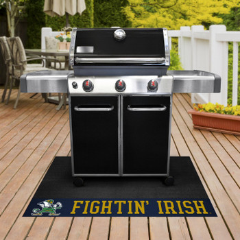 "26"" x 42"" Notre Dame Fighting Irish Logo Grill Mat"