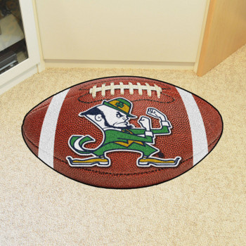 "20.5"" x 32.5"" Notre Dame Fighting Irish Logo Football Shape Mat"