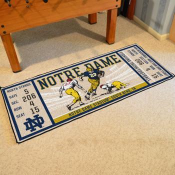"""30"""" x 72"""" Notre Dame Ticket Rectangle Runner Mat"""