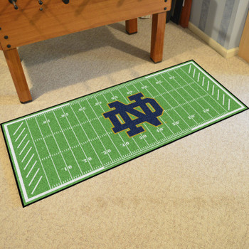 """30"""" x 72"""" Notre Dame Football Field Rectangle Runner Mat"""