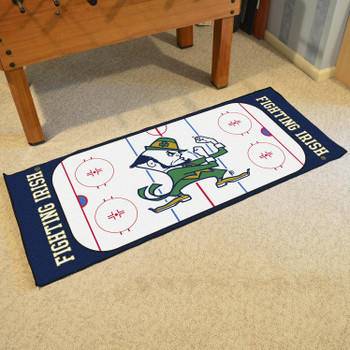 "30"" x 72"" Notre Dame Fighting Irish Logo Rink Runner Mat"