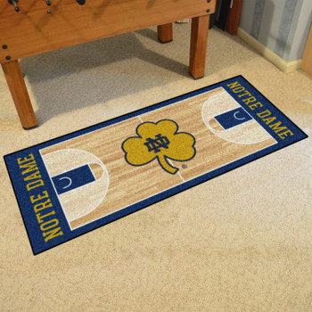 "30"" x 72"" Notre Dame NCAA Basketball Rectangle Runner Mat"