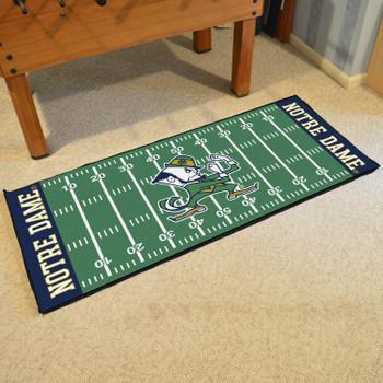 """30"""" x 72"""" Notre Dame Fighting Irish Logo Football Field Rectangle Runner Mat"""