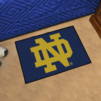 "19"" x 30"" Notre Dame Rectangle Starter Mat"