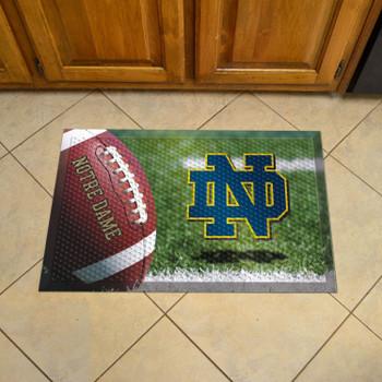 "19"" x 30"" Notre Dame Rectangle Scraper Mat - ""ND"" Logo"