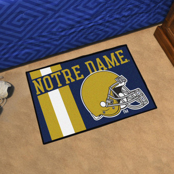 "19"" x 30"" Notre Dame Uniform Navy Blue Rectangle Starter Mat"