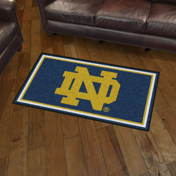 3' x 5' Notre Dame Navy Blue Rectangle Rug