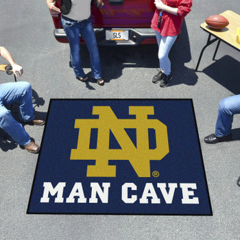 "59.5"" x 71"" Notre Dame Man Cave Tailgater Rectangle Mat"