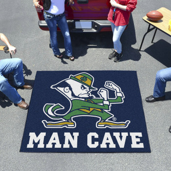 "59.5"" x 71"" Notre Dame Fighting Irish Logo Man Cave Tailgater Rectangle Mat"