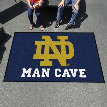 "59.5"" x 94.5"" Notre Dame Man Cave Rectangle Ulti Mat"
