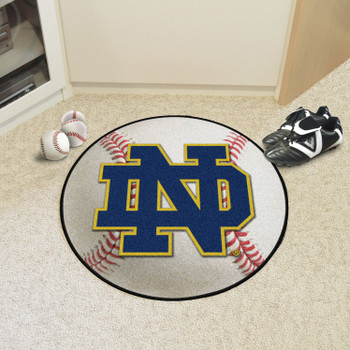 "27"" Notre Dame Baseball Style Round Mat"