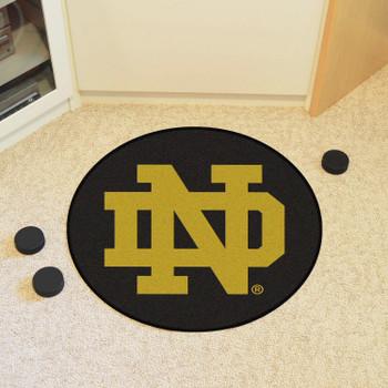 """27"""" Notre Dame Puck Round Mat - """"ND"""" Logo"""