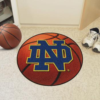 "27"" Notre Dame Orange Basketball Style Round Mat"