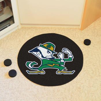 "27"" Notre Dame Puck Round Mat - ""Fighting Irish"" Logo"