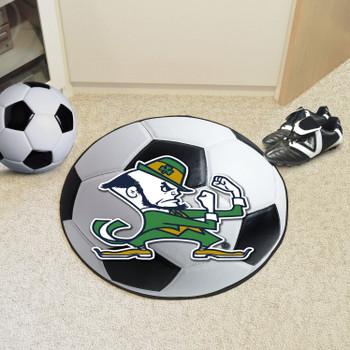 "27"" Notre Dame Fighting Irish Logo Soccer Ball Round Mat"