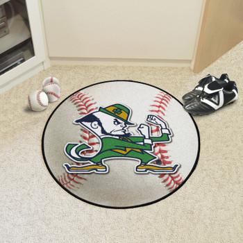 "27"" Notre Dame Fighting Irish Logo Baseball Style Round Mat"