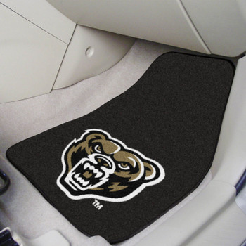 Oakland University Black Carpet Car Mat, Set of 2