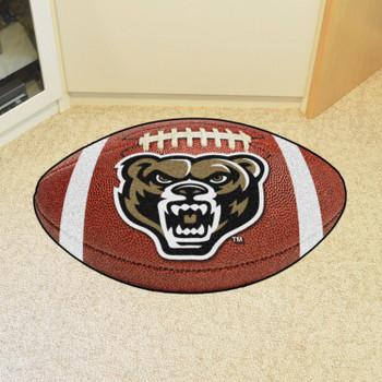 "20.5"" x 32.5"" Oakland University Football Shape Mat"