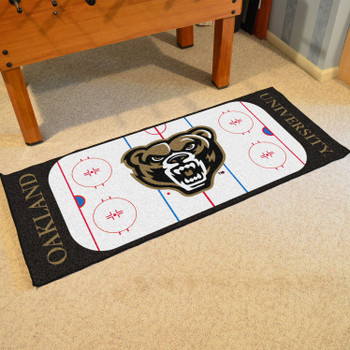 "30"" x 72"" Oakland University Rink Runner Mat"