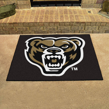 "33.75"" x 42.5"" Oakland University All Star Black Rectangle Mat"
