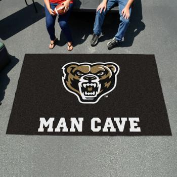 "59.5"" x 94.5"" Oakland University Man Cave Black Rectangle Ulti Mat"