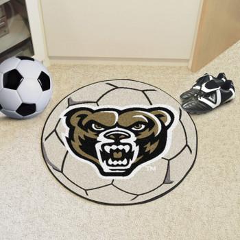 """27"""" Oakland University Soccer Ball Round Mat"""