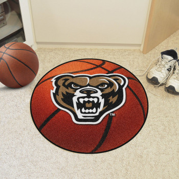 "27"" Oakland University Basketball Style Round Mat"