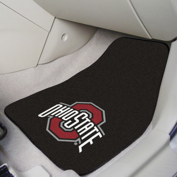 Ohio State University Black Carpet Car Mat, Set of 2