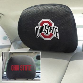 Ohio State University Car Headrest Cover, Set of 2