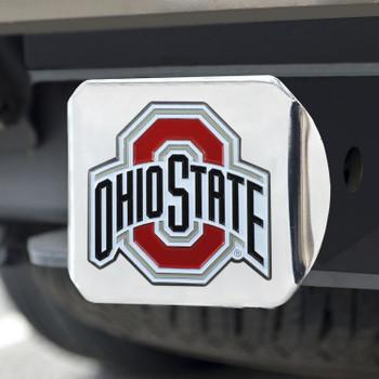 Ohio State University Color Hitch Cover - Chrome