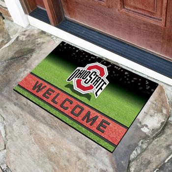 """18"""" x 30"""" Ohio State University Crumb Rubber Door Mat"""