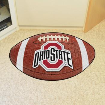 "20.5"" x 32.5"" Ohio State University Football Shape Mat"