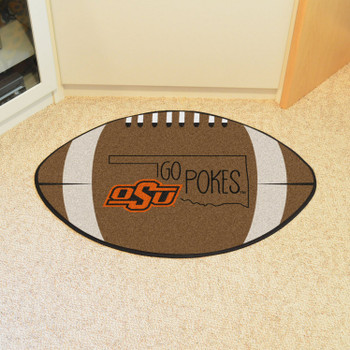 "20.5"" x 32.5"" Ohio State University Southern Style Football Shape Mat"