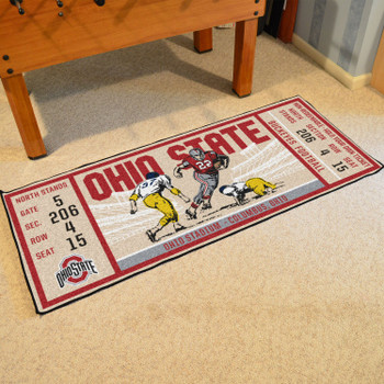 "30"" x 72"" Ohio State University Ticket Rectangle Runner Mat"