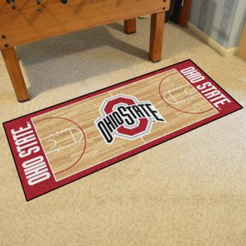 "30"" x 72"" Ohio State University NCAA Basketball Rectangle Runner Mat"