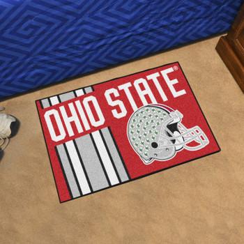 "19"" x 30"" Ohio State University Uniform Red Rectangle Starter Mat"