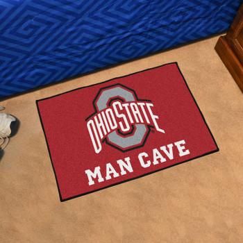"19"" x 30"" Ohio State University Man Cave Starter Red Rectangle Mat"