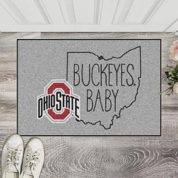 "19"" x 30"" Ohio State University Southern Style Gray Rectangle Starter Mat"