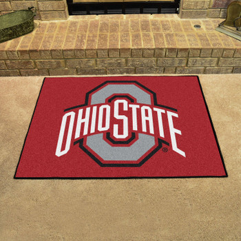"""33.75"""" x 42.5"""" Ohio State University All Star Red Rectangle Mat"""