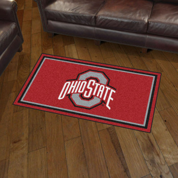 3' x 5' Ohio State University Red Rectangle Rug