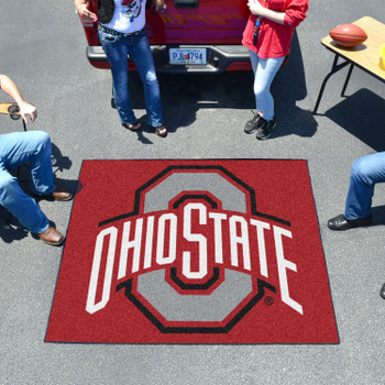 "59.5"" x 71"" Ohio State University Red Tailgater Mat"