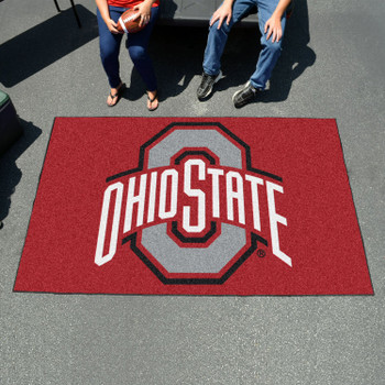 "59.5"" x 94.5"" Ohio State University Red Rectangle Ulti Mat"