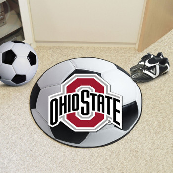 "27"" Ohio State University Soccer Ball Round Mat"