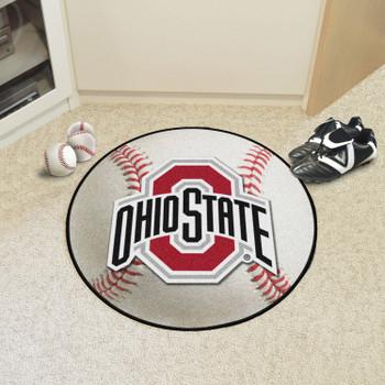 "27"" Ohio State University Baseball Style Round Mat"