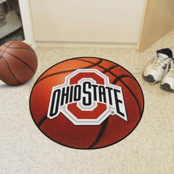 "27"" Ohio State University Basketball Style Round Mat"