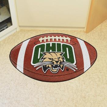 "20.5"" x 32.5"" Ohio University Football Shape Mat"