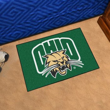 "19"" x 30"" Ohio University Green Rectangle Starter Mat"