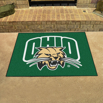 "33.75"" x 42.5"" Ohio University All Star Green Rectangle Mat"
