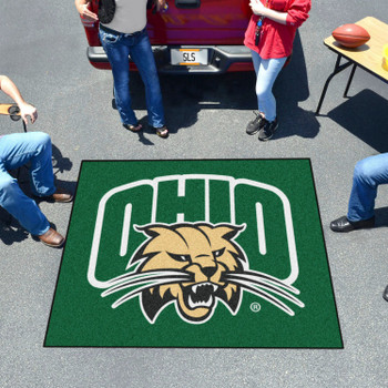 "59.5"" x 71"" Ohio University Green Tailgater Mat"