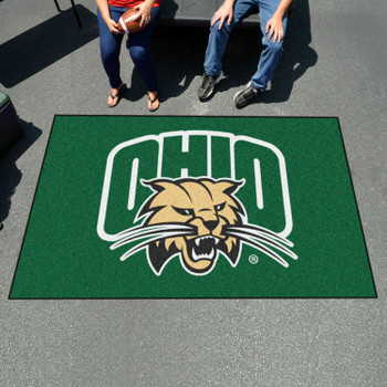 "59.5"" x 94.5"" Ohio University Green Rectangle Ulti Mat"